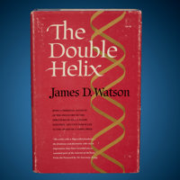 James Watson Signed Book with DNA Sketch The Double Helix First Edition