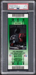 Football Collectibles:Tickets, 2006 Super Bowl XL (Green) Full Ticket PSA NM-MT 8 - Pittsburgh Steelers Win 5th Super Bowl....