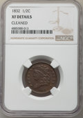 1832 1/2 C -- Cleaned -- NGC Details. XF. NGC Census: (36/346). PCGS Population: (49/610). CDN: $85 Whsle. Bid for probl...