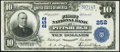 National Bank Notes:Pennsylvania, Pittsburgh, PA - $10 1902 Plain Back Fr. 632 The First National Bank Ch. # 252 Very Fine-Extremely Fine.. ...