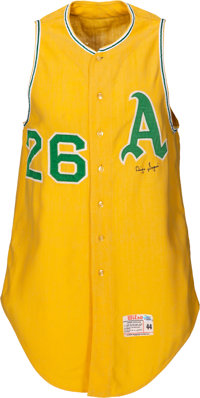 1967 Diego Segui Game Worn & Signed Kansas City A's Jersey - Last Season In Kansas City!
