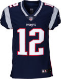 Football Collectibles:Uniforms, 2000's Tom Brady Signed New England Patriots Jersey....