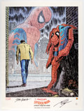 Memorabilia:Poster, John Romita Sr. The Amazing Spider-Man: Spider-Man No More Signed Limited Edition Lithograph Poster #701/1967 ...