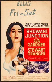 "Bhowani Junction (MGM, 1956). Very Fine-. Window Card (14"" X 22""). Drama"