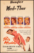 "Movie Posters:Comedy, Paris Model & Other Lot (Columbia, 1953). Fine+. Window Cards (2) (14"" X 22""). Comedy.. ... (Total: 2 Items)"