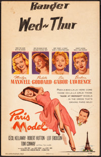 "Paris Model & Other Lot (Columbia, 1953). Fine+. Window Cards (2) (14"" X 22""). Comedy. ... (Total: 2 Items..."