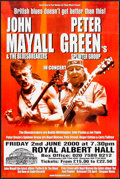 "Movie Posters:Rock and Roll, John Mayall and Peter Green at Royal Albert Hall (Flying Music, 2000). Rolled, Very Fine-. British Concert Double Crown (20""..."