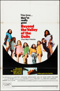 "Movie Posters:Sexploitation, Beyond the Valley of the Dolls (20th Century Fox, 1970). Folded, Fine/Very Fine. One Sheet (27"" X 41""). Sexploitation.. ..."