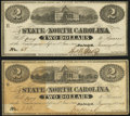 Obsoletes By State:North Carolina, Raleigh, NC- State of North Carolina $2 Jan. 1, 1863 Cr. 131 Two Examples Fine; Crisp Uncirculated.. ... (Total: 2 notes)