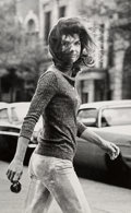 Photographs:Gelatin Silver, Ron Galella (American, b. 1931). Windblown Jackie, 1971. Oversized gelatin silver Lambda, printed later. 40 x 25 inches ...