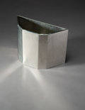 Metalwork, Frank Lloyd Wright (American, 1867-1959). Wastepaper Basket from Price Tower, Bartlesville, Oklahoma, 1956. Aluminum. 12...