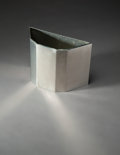 Furniture , Frank Lloyd Wright (American, 1867-1959). Wastepaper Basket from Price Tower, Bartlesville, Oklahoma, 1956. Aluminum. 12...