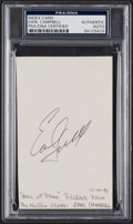 Autographs:Index Cards, Earl Campbell Signed Index Card, PSA/DNA Authentic....