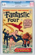 Silver Age (1956-1969):Superhero, Fantastic Four #4 (Marvel, 1962) CGC VG/FN 5.0 Off-white to white pages....