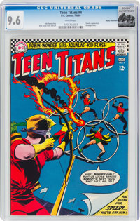 Teen Titans #4 Rocky Mountain Pedigree (DC, 1966) CGC NM+ 9.6 White pages