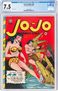 Jo-Jo Comics #18 (Fox Features Syndicate, 1948) CGC VF- 7.5 Cream to off-white pages