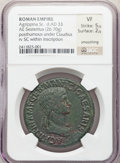 Ancients:Roman Imperial, Ancients: Agrippina Senior (died AD 33). AE sestertius (35mm, 26.70 gm, 6h). NGC VF 5/5 - 2/5, smoothing....