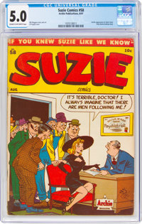 Suzie Comics #58 (MLJ, 1947) CGC VG/FN 5.0 Cream to off-white pages