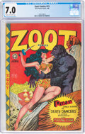 Golden Age (1938-1955):Adventure, Zoot Comics #15 (Fox Features Syndicate, 1948) CGC FN/VF 7.0 Cream to off-white pages....