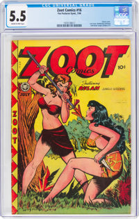 Zoot Comics #16 (Fox Features Syndicate, 1948) CGC FN- 5.5 Cream to pink pages