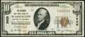 National Bank Notes:District of Columbia, Washington, DC - $10 1929 Ty. 1 The Columbia National Bank Ch. # 3625 Fine-Very Fine.. ...