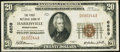 National Bank Notes:Pennsylvania, Harrisville, PA - $20 1929 Ty. 1 The First National Bank Ch. # 6859 Very Fine.. ...