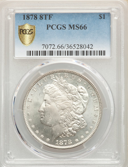 1878 8TF S$1 PCGS Secure 66 PCGS