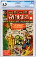 Silver Age (1956-1969):Superhero, The Avengers #1 UK Edition (Marvel, 1963) CGC FN- 5.5 Off-white to white pages....