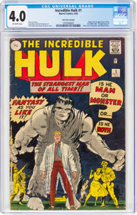 The Incredible Hulk #1 UK Edition (Marvel, 1962) CGC VG 4.0 Off-white pages