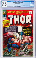 Silver Age (1956-1969):Superhero, Journey Into Mystery #114 (Marvel, 1965) CGC VF- 7.5 Off-white to white pages....