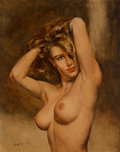 Fine Art - Painting, American, Pal Fried (Hungarian/American, 1893-1976). Sandra. Oil on canvas. 30 x 24 inches (76.2 x 61.0 cm). Signed lower left. ...