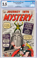 Silver Age (1956-1969):Superhero, Journey Into Mystery #85 (Marvel, 1962) CGC GD+ 2.5 Off-white to white pages....
