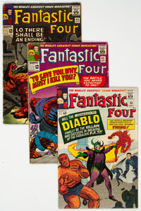 Fantastic Four Group of 7 (Marvel, 1964-70) Condition: Average GD/VG.... (Total: 7 Comic Books)