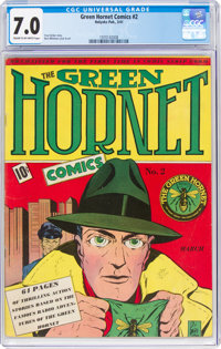 Green Hornet Comics #2 (Harvey, 1941) CGC FN/VF 7.0 Cream to off-white pages