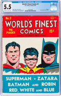 Golden Age (1938-1955):Superhero, World's Finest Comics #2 (DC, 1941) CGC FN- 5.5 Off-white to white pages....