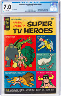 Hanna-Barbera Super TV Heroes #1 (Gold Key, 1968) CGC FN/VF 7.0 White pages