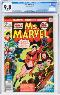 Ms. Marvel #1 (Marvel, 1977) CGC NM/MT 9.8 White pages