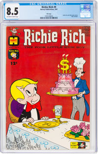Richie Rich #9 File Copy (Harvey, 1962) CGC VF+ 8.5 Off-white to white pages