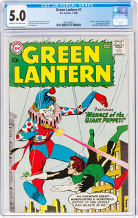 Green Lantern #1 (DC, 1960) CGC VG/FN 5.0 Cream to off-white pages