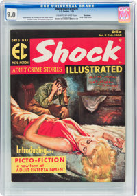 Shock Illustrated #2 (EC, 1956) CGC VF/NM 9.0 Cream to off-white pages