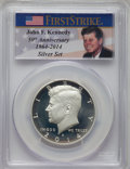 2014-D 50C Silver, 50th Anniversary, MS70 PCGS. This lot will also include the following: 2014-S 50C Enhanced Finish S...