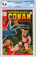 Bronze Age (1970-1979):Adventure, Conan the Barbarian #4 (Marvel, 1971) CGC NM+ 9.6 White pages....