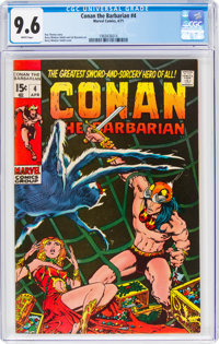 Conan the Barbarian #4 (Marvel, 1971) CGC NM+ 9.6 White pages