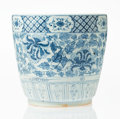 Ceramics & Porcelain, A Chinese Blue and White Porcelain Planter. 11-1/8 x 11-5/8 x 11-5/8 inches (28.3 x 29.5 x 29.5 cm). ...