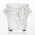 Art Glass:Lalique, A Lalique Frosted Glass Ganymede Wine Cooler in Original Fitted Box, post-1945. Marks: Lalique France, LALIQUE...