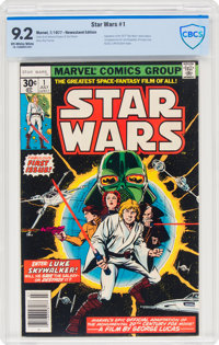 Star Wars #1 (Marvel, 1977) CBCS NM- 9.2 Off-white to white pages