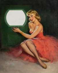 Gil Elvgren (American, 1914-1980) Good Looking, 1950 Oil on canvas 30 x 24 inches (76.2 x 61.0 cm