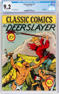 Golden Age (1938-1955):Classics Illustrated, Classic Comics #17 The Deerslayer - First Edition (Gilberton, 1944) CGC NM- 9.2 Off-white pages....