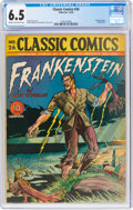 Golden Age (1938-1955):Classics Illustrated, Classic Comics #26 Frankenstein - First Edition (Gilberton, 1945) CGC FN+ 6.5 Cream to off-white pages....