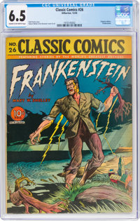 Classic Comics #26 Frankenstein - First Edition (Gilberton, 1945) CGC FN+ 6.5 Cream to off-white pages